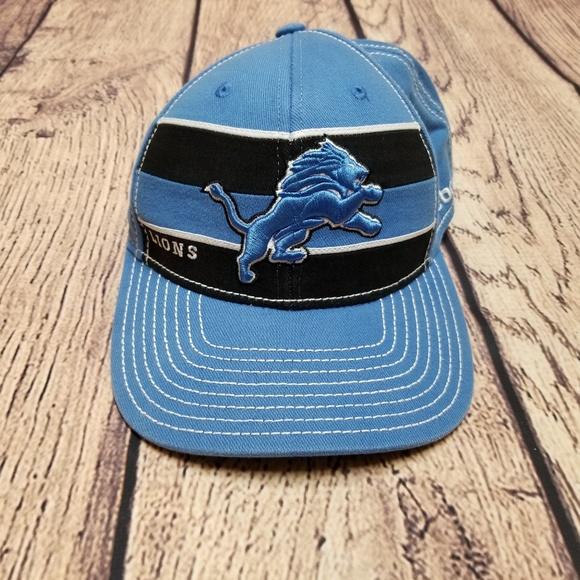 d08ef67c2c2 Official NFL Reebok Onfield Detroit Lions Hat Cap.  M 5c53ce2bc2e9feb49963bf26